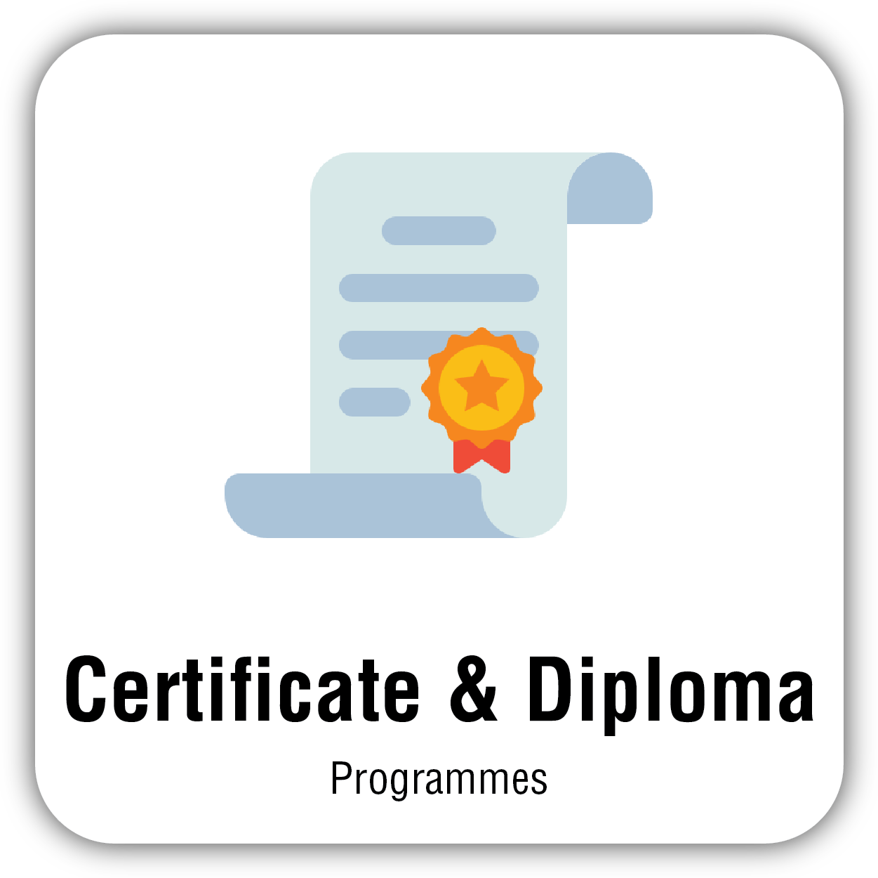 button for Certificate & Diploma