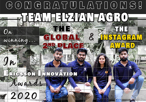 Global second place and the most popular team on Instagram at the ERICSSON INNOVATION AWARDS 2020